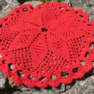 Red Crochet Table Napkin Christmas Santa Decor Idea, Christams Ideal Table Decor Gift, Shabby Handma
