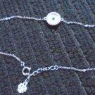 14k White Gold Stained Glass Evil Eye Nazar Lucky Designer Bracelet