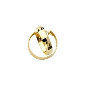 14k Yellow Gold Fancy Designer Light Diamond Cut Hoop Earrings - 3.5 mm