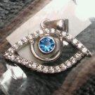 925 Sterling Silver Designer Evil Eye Hamsa Nazar Goodluck Charm Pendant