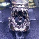 Ulitmate Handmade Sterling Silver Horror Film Alien Monster Halloween Ring