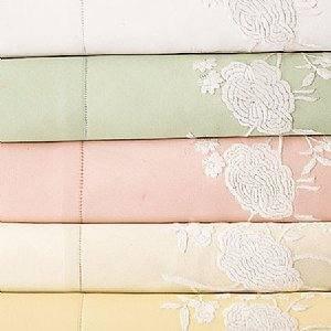 Sferra Ava Embroidered Pillowcases-King-Pink-NIP