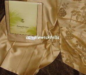 NIP Sferra Tommy Bahama Deco Palm Pillowcases-Sauterne