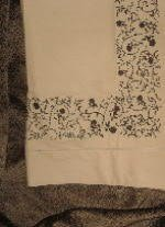 Pair Sferra Flores Embroidered Pillowcases-Std-Wheat/Chocolate