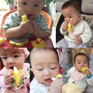 Environmentally Safe Baby Teether Teething Ring Banana Silicone Toothbrush Dental Care