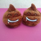 34-40 Yards Cartoon QQ emoji stool Water Home Slippers Plush Unisex Cosplay Shoes Gift toy