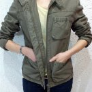 New women's fashion Vintage Army green Coat Jacket outwear Free shipping