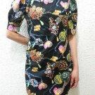 2 Colors New women's Vintage Floral print chiffon mini dress quality dress long top