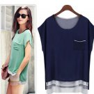 2 colors Hot sale New women's fashion Casual chiffon tops OL-style Blouse gift