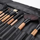 24pcs(Wood) Cosmetics Makeup Brushes Beauty MakeUp Tool Set Foundation Powder Brush Kit With Bag