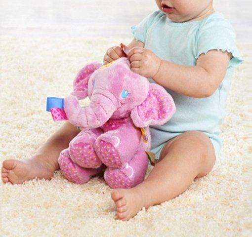 Elephant Soft Stuffed Plush Crib Bed Hanging Hand Rattles Baby Toys Teddy Gift Dolls