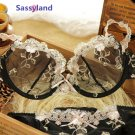 Women's transparent Sexy lace gauze embroidery Ultra-thin Push up Bra Sets sleepwear lover gift