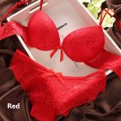 6 Colors New Women's Sexy lace V-neck Push up Bra + Brief Panties Sets lingerie