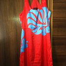 New women's sexy off shoulder red blue dress wedding dress casual one-piece dress clothes Size S
