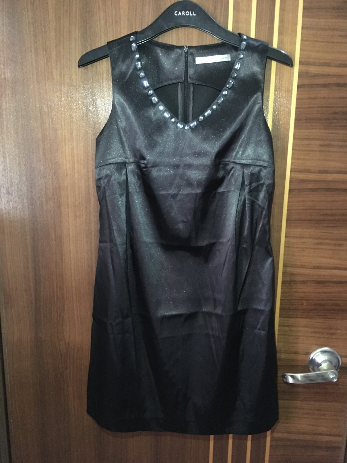 Women's vintage fashion Cotton solid Black Dress wedding OL-style dress Size 2 4 6