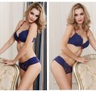 4 Color Women's Sexy lace Bra Set Lingerie Underwear plus size Push-Up Padded sleepwear