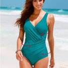 4 Colors Women's sexy Sport soild dot jumpsuit one piece bikini swimwear plus size S-4XL