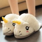 1 Pc Unisex kids children Indoor Plush Unicorn Slippers Cosplay Costumes Toy Gift Shoes