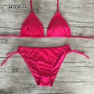 4 Colors women's V-neck Push Up Bikini Set Swimwear Beachwear Bathing suit XS S M  L