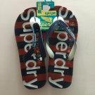 1P Men's casual super dry flip flops shoes beach wear Size L/US10-11.5/EU9.5-10.5