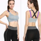 Fitness Yoga Push Up Sports Bra Womens Gym Running Padded Tank Top Underwear SML