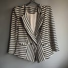 New women's Black White striped blazers suits coat OL-style Fashion outwear clothing gift