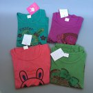 4pc/lot Kids short sleeve for children baby girls cotton Size L free shipping