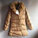 Women's casual down jacket coat outwear Khaki vintage clothing Free shipping