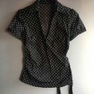 Women's fashion sexy black white dots tops blouse quality casual clothing T-shirt gift Size S