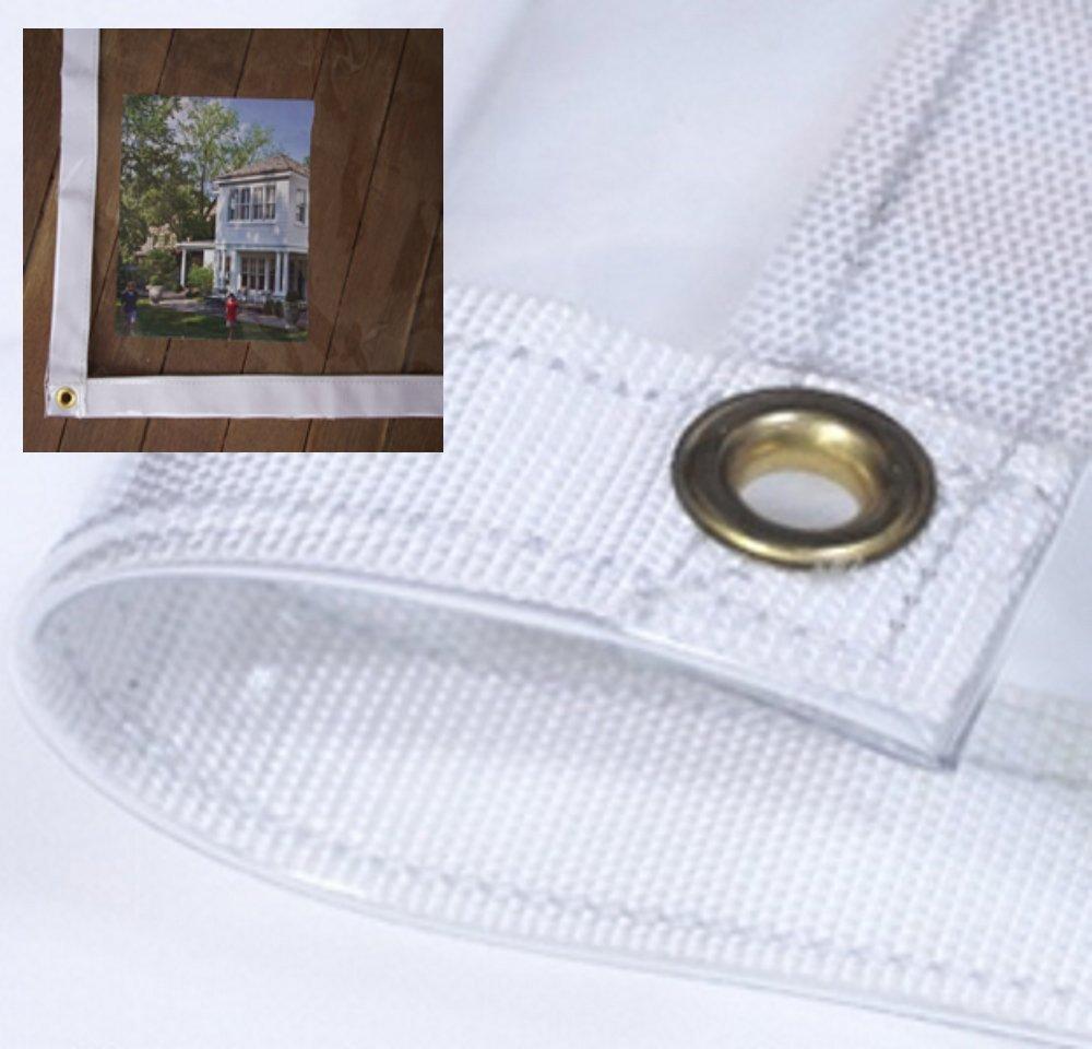8x10 Heavy Duty Clear Vinyl Canopy Porch Boat Tarpaulin Cover