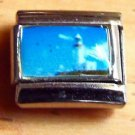 Lighthouse blue sky photo 9mm stainless steel italian charm bracelet link new
