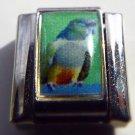 Grey parrot bird  photo 9mm stainless steel italian charm bracelet link new
