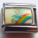 Angel sliding on a rainbow photo 9mm stainless steel italian charm link new