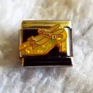Authentic Casa D'Oro Yellow shoes 9mm stainless steel italian charm link new