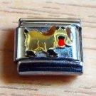 Talexia gold dog pet enamel 9mm stainless steel italian charm bracelet link rare