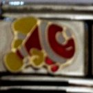 Red and yellow clown fish enamel 9mm stainless steel italian charm link new