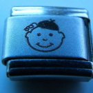 Beanie cap boy laser 9mm stainless steel italian charm bracelet link new