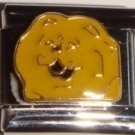 Yellow Chow dog face enamel 9mm stainless steel italian charm bracelet link new