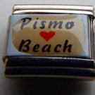 Pismo beach heart photo 9mm stainless steel italian charm bracelet link new