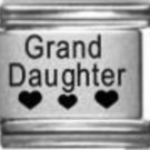 Grand Daughter three hearts laser 9mm stainless steel italian charm link new