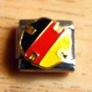 German flag colors round enamel 9mm stainless steel italian charm bracelet link