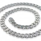 "9.5mm 9"" Sterling Silver Curb Chain Bracelet"