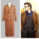 Who is Doctor Dr. Long Brown Trench Coat Jacket Costume