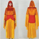 Star Wars I Queen Amidala Cosplay Costume Orange Dress