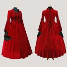 Custom made Elegant ROCOCO gothic prom dress medieval ball gowns
