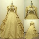 Yellow Long Sleevess Classic Medieval Victorial Gothic Dress W1129