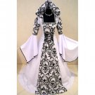 Custom Made White Medieval Victorian Renaissance Wedding Dress