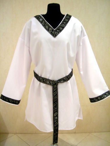 Medieval Gothic Tunic Shirt White Knight Costume Mens Prince Costume
