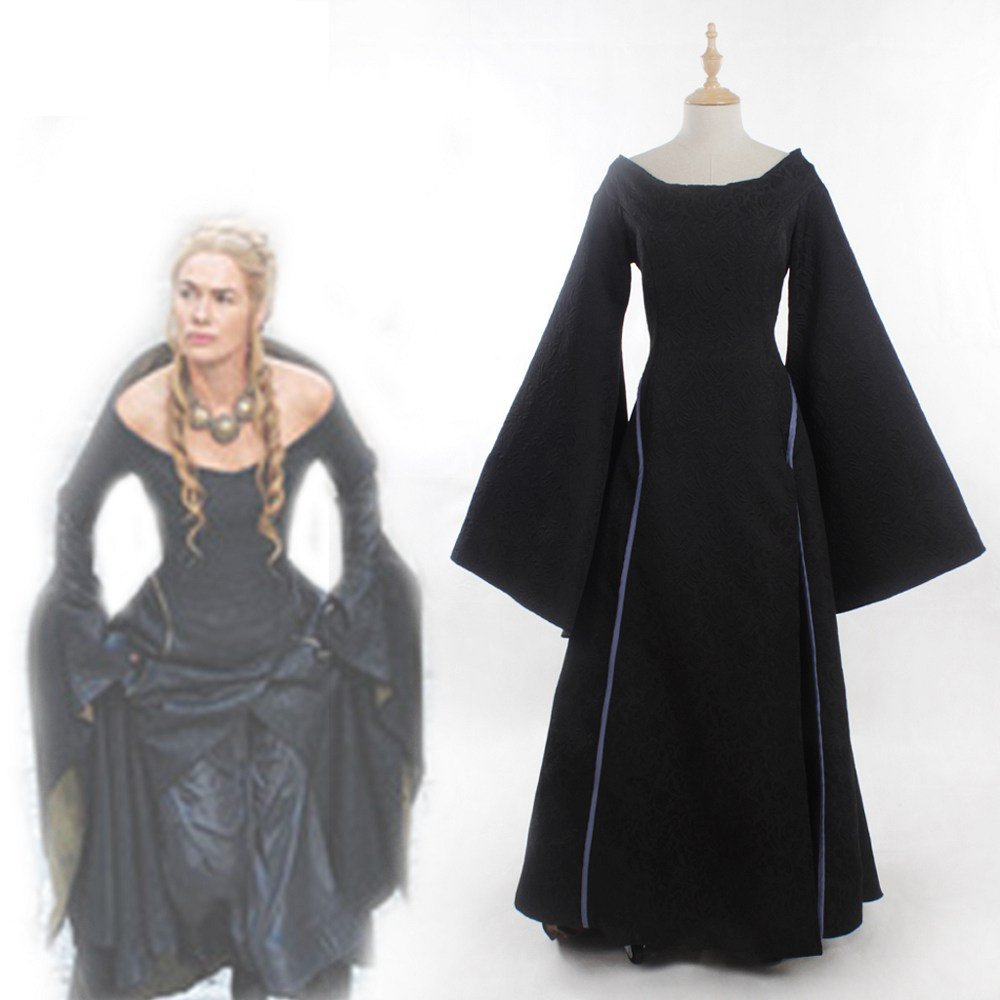 Game of Thrones Cersei Lannister Black Dress Costume D1027