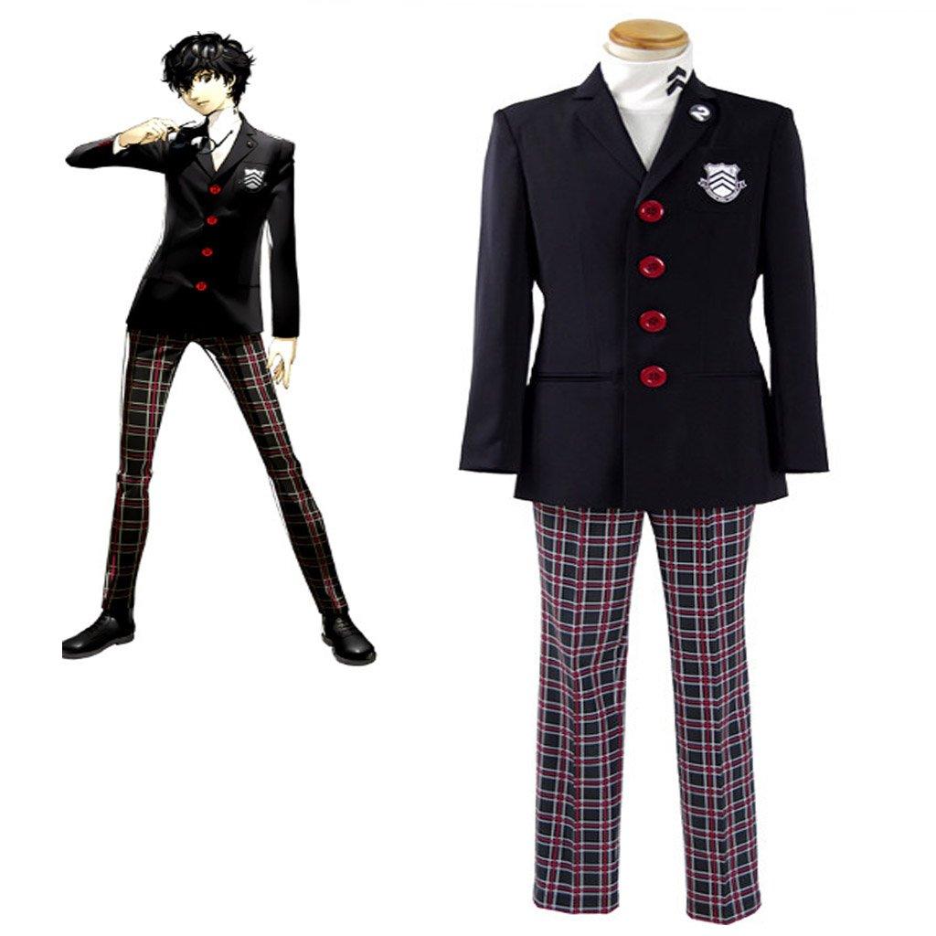 Persona 5 Protagonist Cosplay Costume 2016 Men's Suits School Uniform